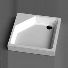 Akmens masės dušo padėklas KD-90, 890x890 mm, baltas
