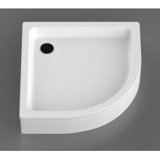 Akmens masės dušo padėklas R-80, 80x80 cm, pusapvalis, R-500
