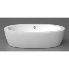 Akmens masės vonia FESTA 2040x1100 mm su panele, balta