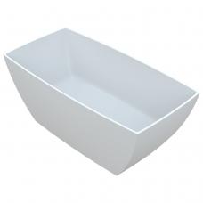 Akmens masės vonia Vayer Gemini 145x75 cm, stačiakampė, balta