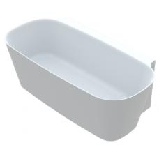 Akmens masės vonia Vayer Nova 2 164x83 cm, stačiakampė, statoma prie sienos, balta