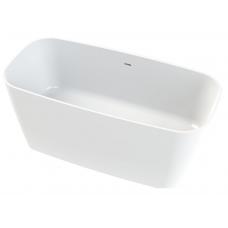 Akmens masės vonia Vayer Volans 150x72 cm, apvalintais kampais, balta