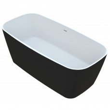 Akmens masės vonia Vayer Volans 150x72 cm, apvalintais kampais, juoda
