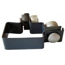 Apkaba metalinei tvorai kampinė su tvirtinimo varžtais pilka (Ral7016)