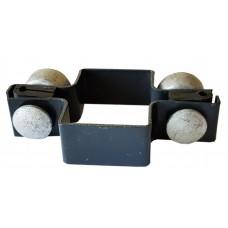 Apkaba metalinei tvorai tiesi su tvirtinimo varžtais pilka (Ral7016)