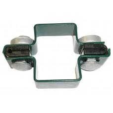Apkaba metalinei tvorai tiesi su tvirtinimo varžtais žalia (Ral6005)