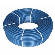Daugiasluoksnis vamzdis PE-RT  grindų šildymui d.16x2.0, su antifuzine aps. plėv., mėlynas, po 200m