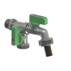 "JARDIN sodo ventilis dvigubas, srėgis 1/2"", 3/4"" x 3/4"" Ø15"