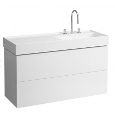 Kartell by Laufen spintelė, 600x1180x450mm, su dviem stalčiais, balta