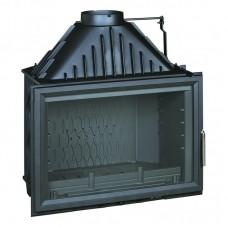 Ketinis židinio ugniakuras 800 GRANDE VISION tiesiu stiklu ir sklende