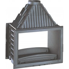 Ketinis židinio ugniakuras Invicta Double Face 800 su dviem fasadais