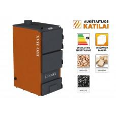 Kieto kuro katilas BIO MAX+E, 70 kW, su orapūte, valdikliu ir dūmų temperatūros davikliu