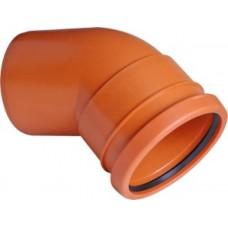 Lauko kanaliz. PVC alkūnė 110/45°