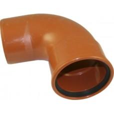 Lauko kanaliz. PVC alkūnė 110/87°