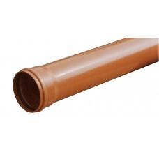Lauko kanaliz. PVC N vamzdis su mova d. 110/ 3.2/ 1 m