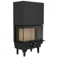 Plieninis židinio ugniakuras NIBE CI50, trijų pusių stiklu, pakeliamomis durimis 298250, 803400)